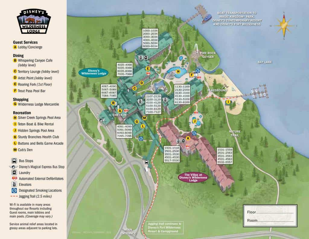 Wilderness Lodge Resort Map Kennythepirate S Guide To