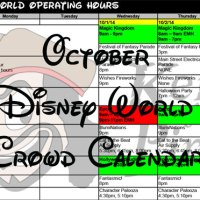 KennythePirate's October Walt Disney World Crowd Calendar with Dining and Fastpass+ Booking Dates