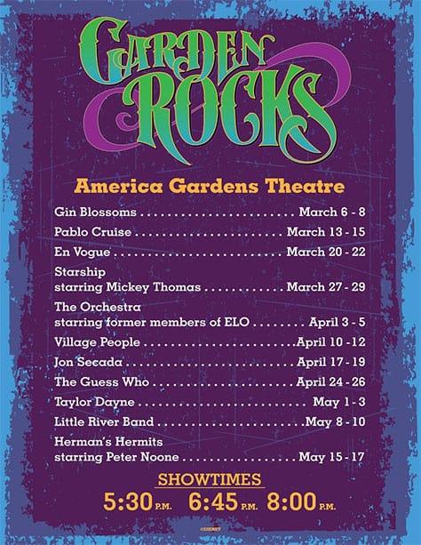 Garden Rocks Concert Series Epcot Flower and Garden Festival l kennythepirate.com