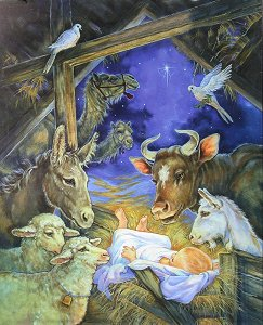animal nativity