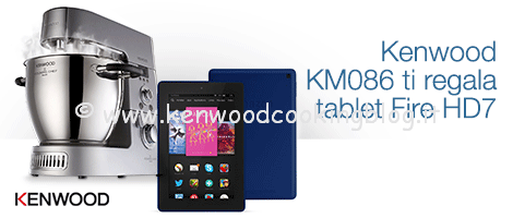 OFFERTA AMAZON Kenwood Cooking Chef KM086 e Kindle Fire HD 7 in regalo