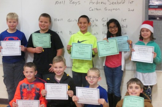 Math Awards For Elem Students