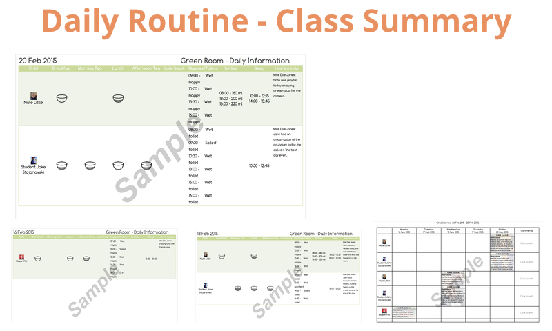 Daily Routine - Class Summary