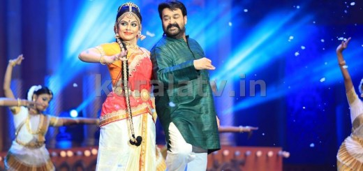 Mohanlal and Asha Sharath at Asianet Film Awards 2016
