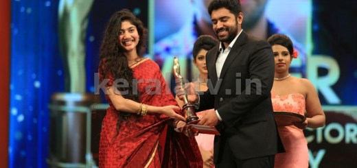 Sai Pallavi and Nivin Pauly at Asianet Film Awards 2016
