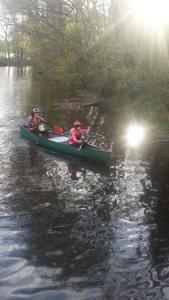 Bode nehrinin üzerinde, kano etabının sonu...
