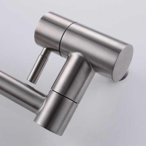 product&product id articulating kitchen faucet KES Lead Free Articulating Kitchen Faucet SUS Stainless Steel Pot Filler Double Joint and Degree