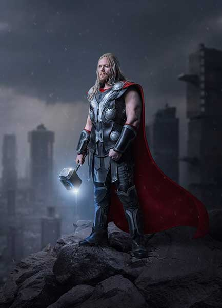 Thor Cosplay Shooting Digital Art Dheny Patunka Composing Photoshop Urban