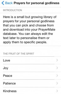 PrayerMate App - Prayers for Personal Godliness