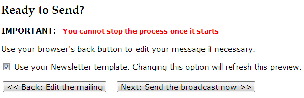 No option to schedule emails
