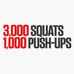 30 Day Challenge – 3000 Squats & 1000 Push-Ups