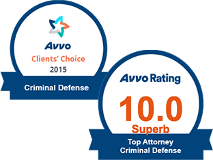 AVVO 10.0 Top Criminal Defense & Clients' Choice Criminal Defense
