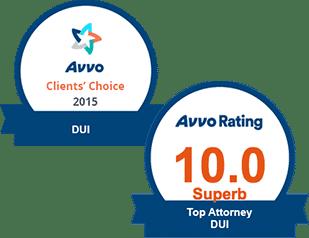 AVVO 10.0 Top DUI & Clients' Choice DUI