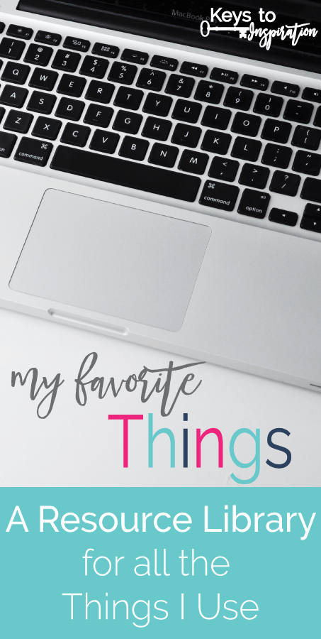 A huge list of all of my favorite things - the resources I use every day! Blogging, DIY, Crafting and More!