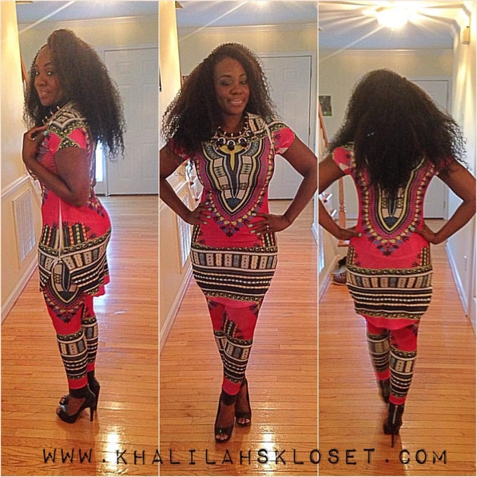 "This was the outfit I chose to wear for the fashion show. I was a little hesitant because I do not really ""do"" leggings OR sets. However, the colors, the dashiki inspired top and how the ensemble fit, sold me! You should definitely check out Fabulously Fierce Boutique. I am so glad that I went ahead and got the outfit because I was really pleased. Others really seemed to appreciate the outfit as well. Moral of the story is, try things outside of your comfort zone. You may just slay #boop"