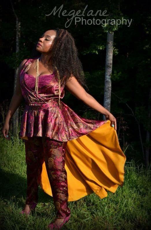 Jumpsuit w/ removable peplum: Divine Creations Fashion Affair Lace Bralette: Charlotte Russe Necklace: Exotic Hush Boutique