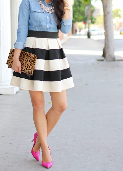 Outfit Inspiration (I could not pull of the large stripes as they make me look like a small recliner)
