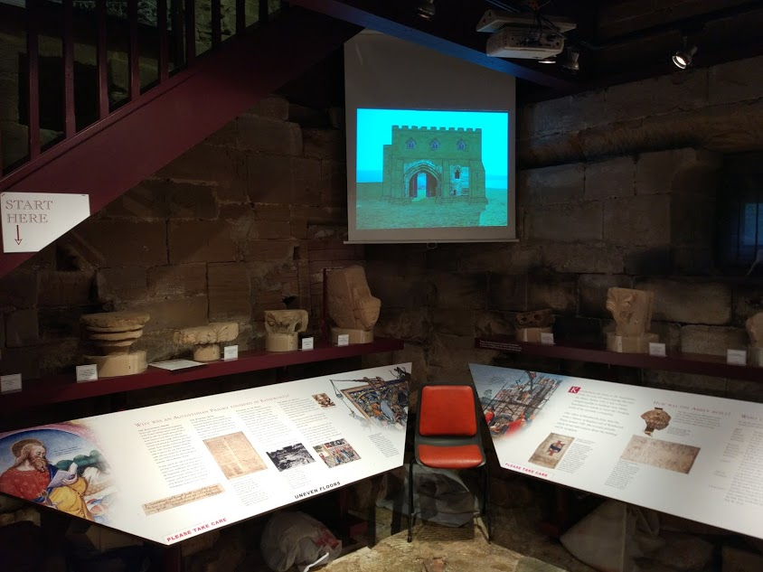 The projector screen in the Barn Museum & Heritage Centre