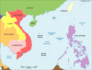 Se asian foreign ministers voice concerns on south china sea khmer map of the south china sea showing location of spratly islands and paracel islands map courtesy of cartogis college of asia and the pacific gumiabroncs Gallery