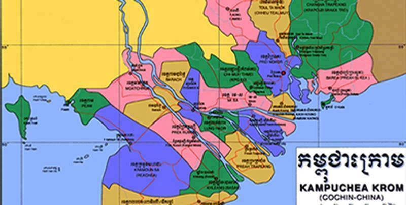 map of Kampuchea Krom