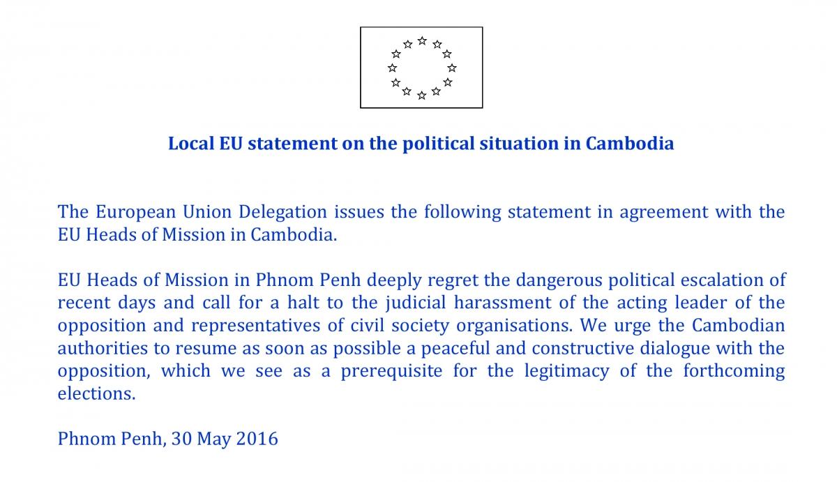 EU on Cambodia