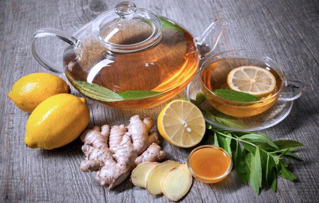 lemon honey & Ginger tea