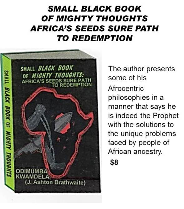 SMALL BLACK BOOK OF MIGHTY THOUGHTSAFRICA'S SEEDS SURE PATH TO REDEMPTION