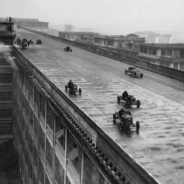 10. Racing on the roof