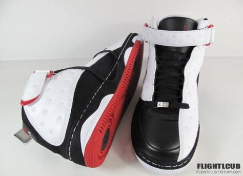 Air Jordan Force Fusion XIII - White - Black - Varsity Red