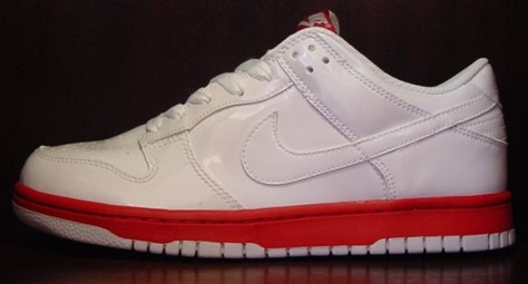 Nike Dunk Low CL - White / Red - Patent Leather