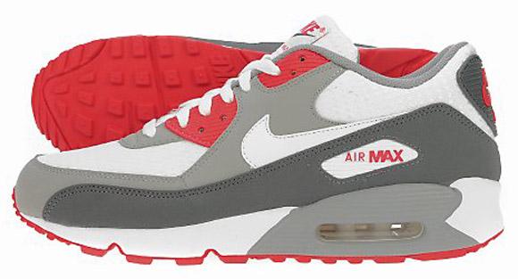 Nike Air Max 90 - Grey - Red