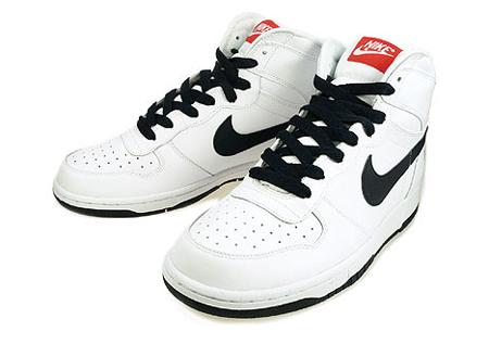 Nike Big Nike Hi LE Woven – White / Dark Obsidian – Team Orange