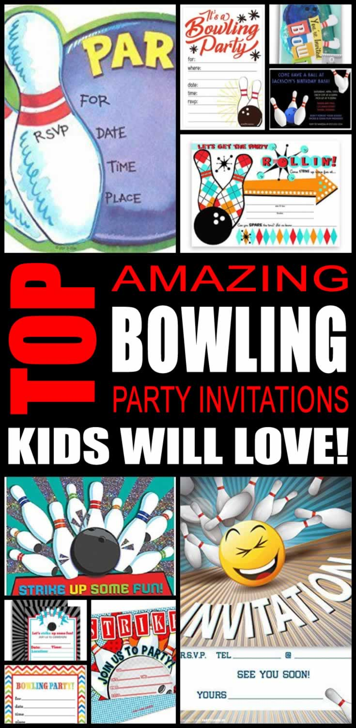 Fullsize Of Bowling Party Invitations