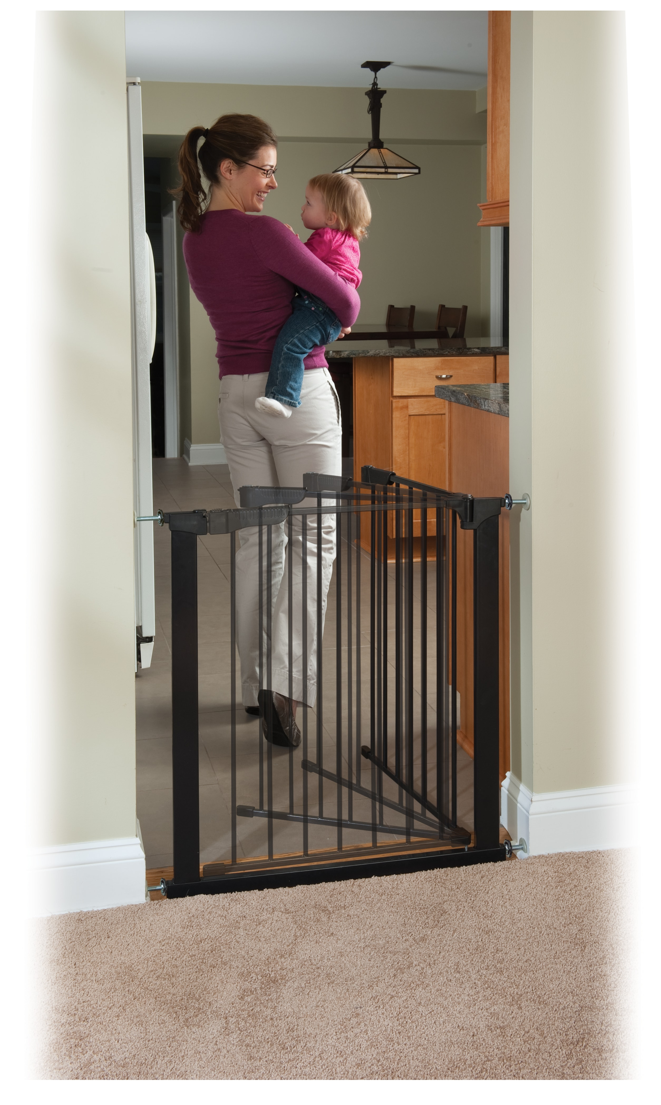 Fullsize Of Pressure Mounted Baby Gate