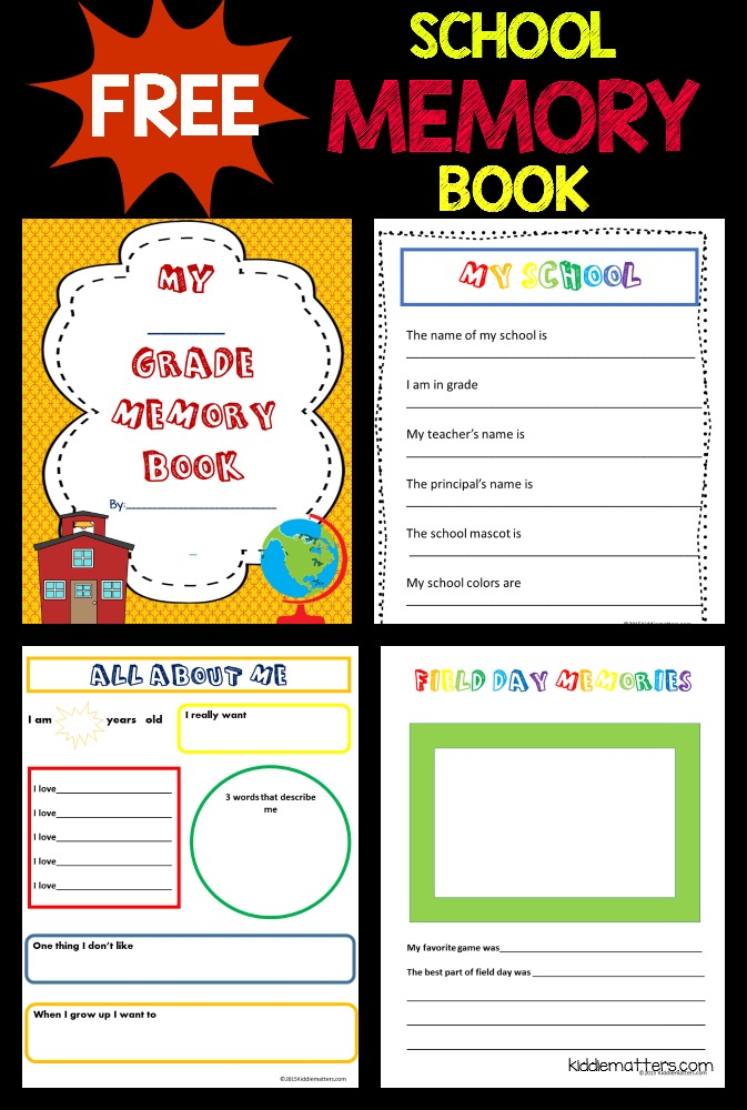 free school memory book printable kiddie matters. Black Bedroom Furniture Sets. Home Design Ideas