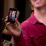 Ben Folds has Kellie's feet on his phone