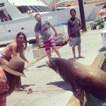 Jenna meets a sea lion
