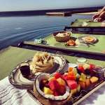Breakfast in the pool