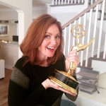 Kellie with an Emmy