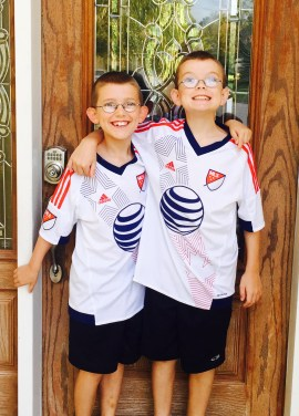 Keaton and J.R. on their first day of school 2015