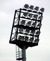 Floodlight, Millerntorstadium of FC St. Pauli, HamburgGermany