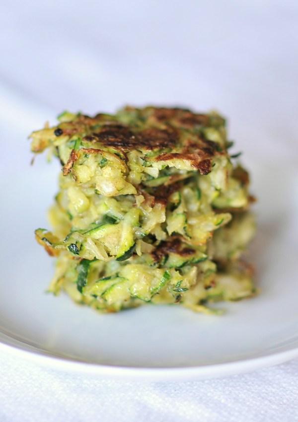 Fresh and Quick Zucchini Fritters, Kiku Corner 4