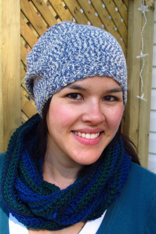 Crochet Infinity Scarf Tutorial For Beginners : Beginner s Crocheted Infinity Scarf Kiku Corner