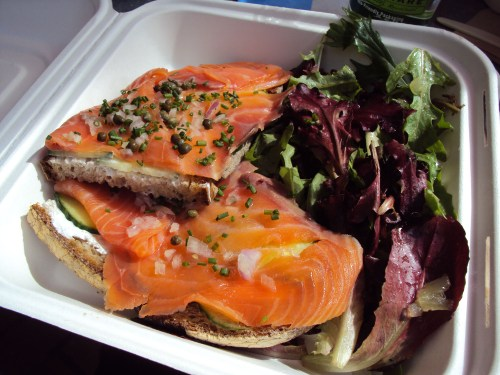 open face smoked salmon sandwich | la boulange bakery