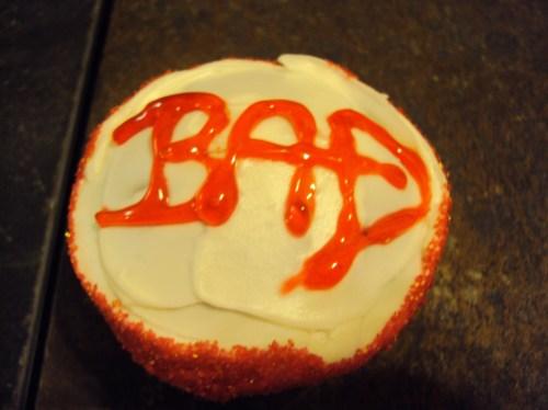 michael jackson bad cupcake