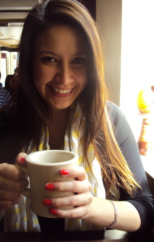 kimberlyloc drinking bottomless coffee at philip marie in new york city