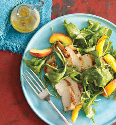 grilled chicken and peach salad self magazine 6 sweet suppers