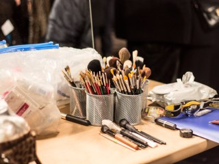 sally lapointe fall/winter 2013 show backstage beauty makeup brushes