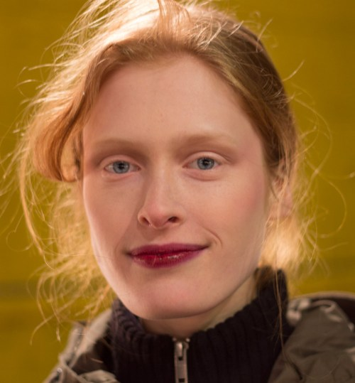 sally lapointe fall/winter 2013 show backstage beauty light brows berry lips