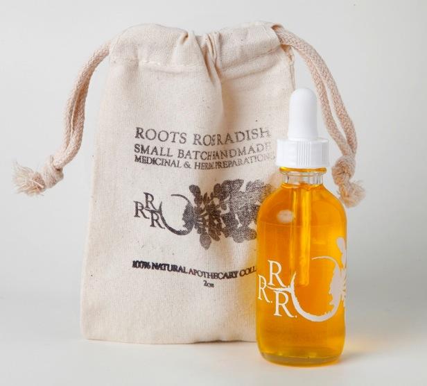 roots rose radish citrus face oil cleanser